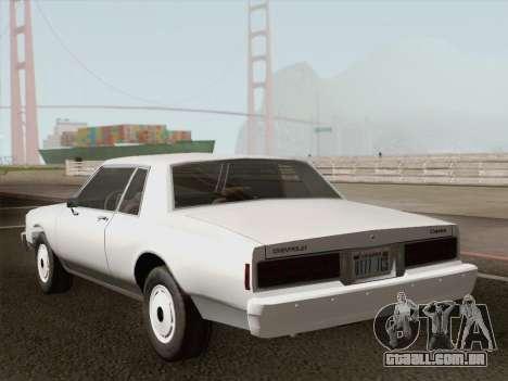 Chevrolet Caprice 1986 para o motor de GTA San Andreas