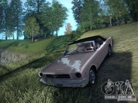 Ford Mustang Convertible 1964 para GTA San Andreas traseira esquerda vista