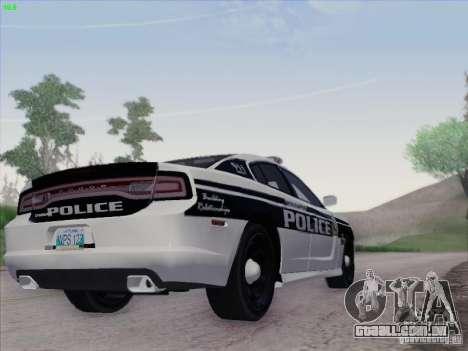 Dodge Charger 2012 Police para GTA San Andreas vista traseira