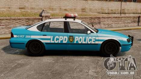Declasse Merit Police Cruiser ELS para GTA 4 esquerda vista