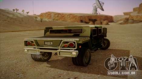 HD Patriot para GTA San Andreas traseira esquerda vista