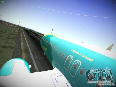 Boeing 737-84R AeroSvit Ukrainian Airlines para GTA San Andreas vista traseira