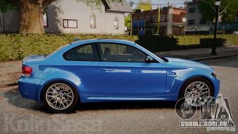 BMW 1M 2011 Carbon para GTA 4 esquerda vista