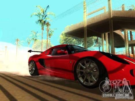 Lotus Exige 240R para GTA San Andreas vista superior