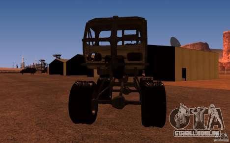Heist Truck para GTA San Andreas traseira esquerda vista