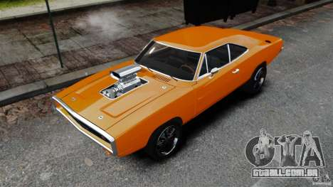 Dodge Charger RT 1970 para GTA 4 traseira esquerda vista