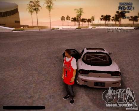 Pele Chicago Bulls para GTA San Andreas quinto tela