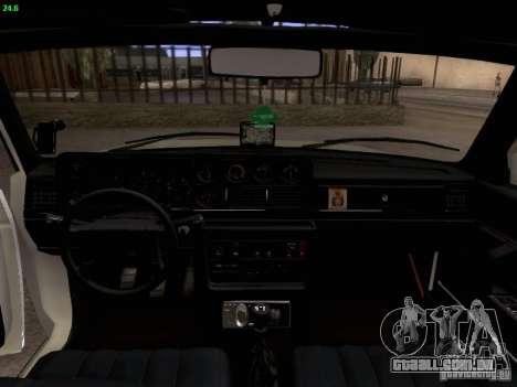 Volvo 242 Turbo para GTA San Andreas vista interior