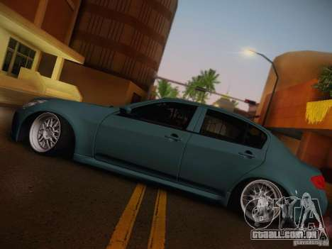 Infiniti G37 Sedan para vista lateral GTA San Andreas