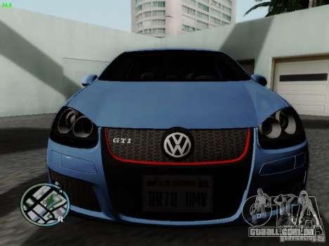 Volkswagen Golf V R32 Black edition para GTA San Andreas esquerda vista