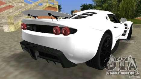 Hennessey Venom GT Spyder para GTA Vice City deixou vista
