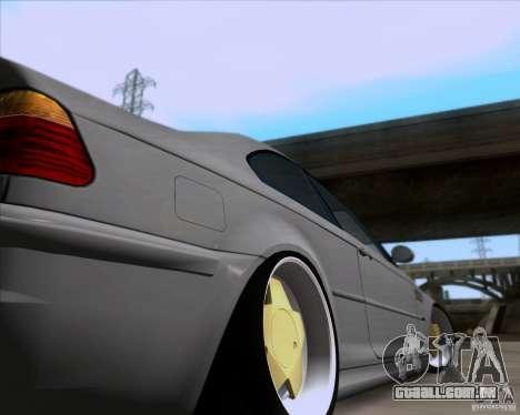 BMW 3-er E46 Dope para GTA San Andreas vista interior