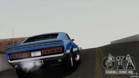 Shelby GT500 428 Cobra Jet 1969 para GTA San Andreas vista inferior