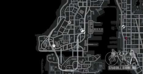 A faixa no estilo da gincana para GTA 4 quinto tela