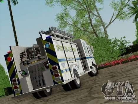 Pierce Pumpers. B.C.F.D. FIRE-EMS para GTA San Andreas esquerda vista