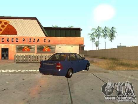 LADA 2170 dreno para GTA San Andreas vista interior