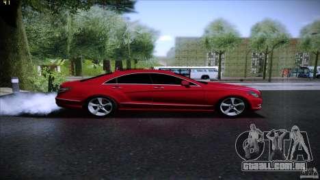 Mercedes Benz CLS 350 2011 para GTA San Andreas traseira esquerda vista