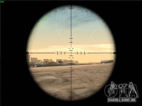 Remington 700 para GTA San Andreas quinto tela
