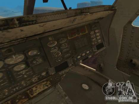 O UH-60 do COD MW3 para GTA San Andreas vista interior