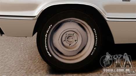 Dodge Coronet 1967 para GTA 4 vista inferior