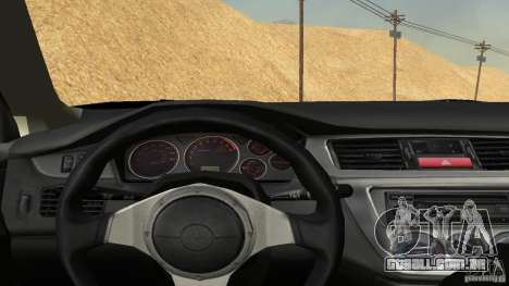 Mitsubishi Lancer Evolution 8 para GTA San Andreas vista traseira