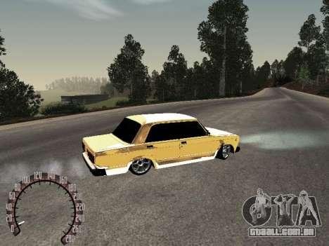 VAZ 2107 ouro para GTA San Andreas traseira esquerda vista