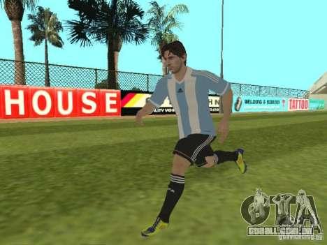 Lionel Messi para GTA San Andreas sexta tela
