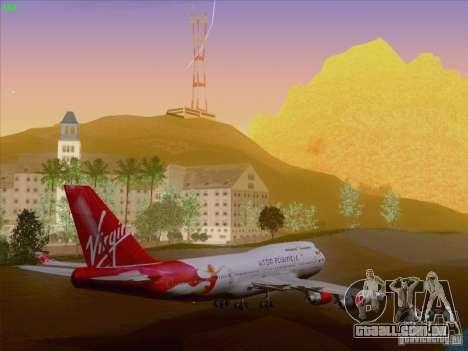 Boeing 747-4Q8 Lady Penelope para GTA San Andreas vista inferior
