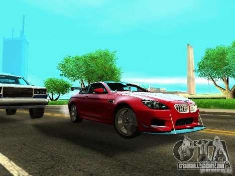 BMW M6 2013 para GTA San Andreas esquerda vista