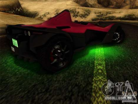 BAC MONO para vista lateral GTA San Andreas