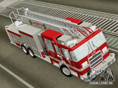 Pierce Arrow LAFD Ladder 43 para GTA San Andreas vista traseira