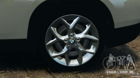 BMW X1 para GTA 4 vista superior