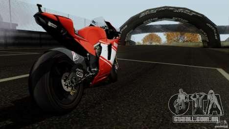 Ducati Desmosedici RR para GTA San Andreas vista direita