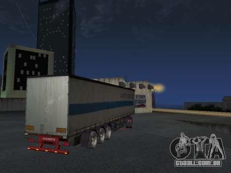 Reboque Schmitz para GTA San Andreas traseira esquerda vista