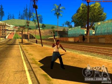 New Animations V1.0 para GTA San Andreas nono tela