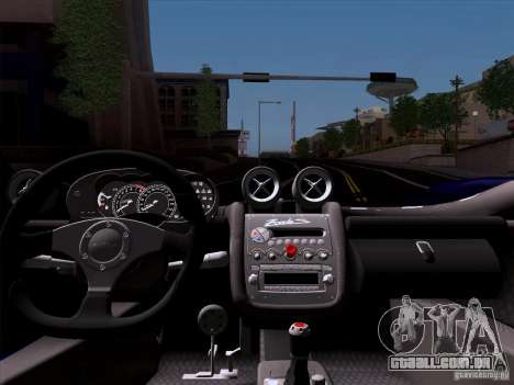 Pagani Zonda C12S Roadster para GTA San Andreas vista traseira