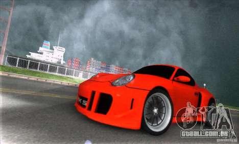 Porsche Cayman S v2 para GTA San Andreas vista traseira
