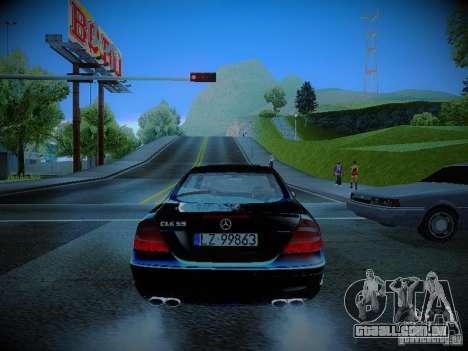 Mercedes-Benz CLK 55 AMG Coupe para GTA San Andreas traseira esquerda vista