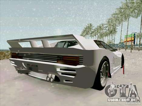 Ferrari Testarossa Custom para GTA San Andreas esquerda vista