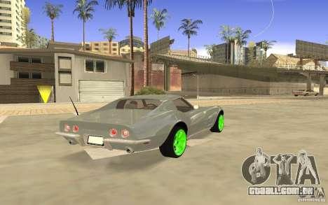 Chevrolet Corvette Stingray Monster Energy para GTA San Andreas vista traseira