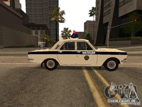 GÁS 24 milícia para GTA San Andreas esquerda vista