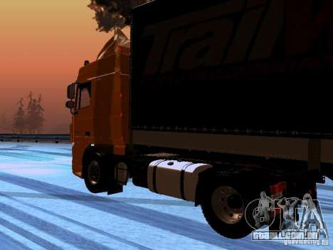 DAF XF105 para GTA San Andreas vista direita