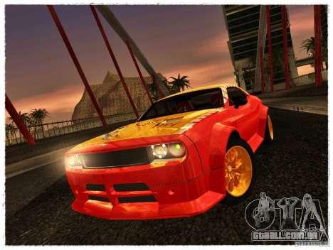 Dodge Challenger Calibri-Ace para GTA San Andreas traseira esquerda vista