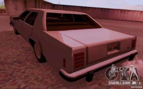 Ford Crown  Victoria LTD 1985 para GTA San Andreas esquerda vista