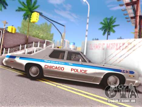 Dodge Monaco 1974 para GTA San Andreas vista inferior