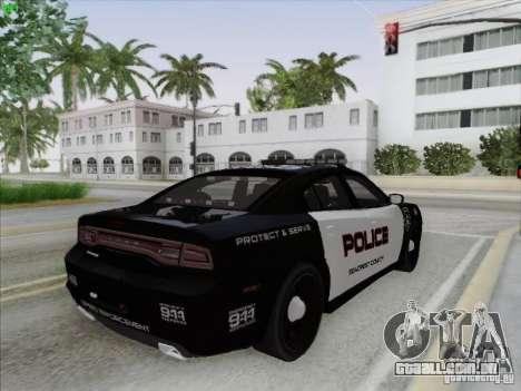 Dodge Charger 2012 Police para GTA San Andreas vista superior