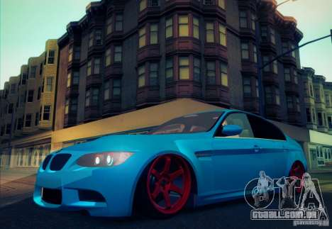 BMW M3 E90 para vista lateral GTA San Andreas