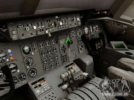 McDonell Douglas DC-10-30 Continental para GTA San Andreas vista interior