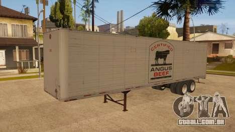 Reboque todo em metal para GTA San Andreas vista traseira