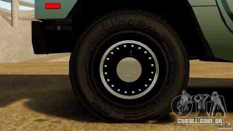 Hummer H1 Alpha para GTA 4 vista de volta